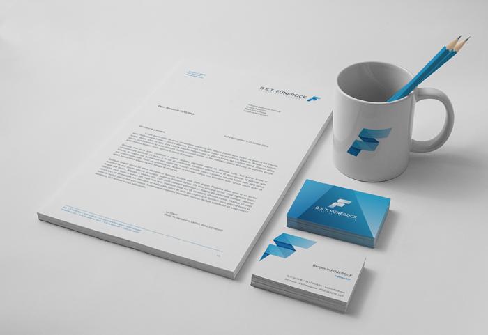 Papier à entête et cartes de visite pour un bureau d'étude de structure