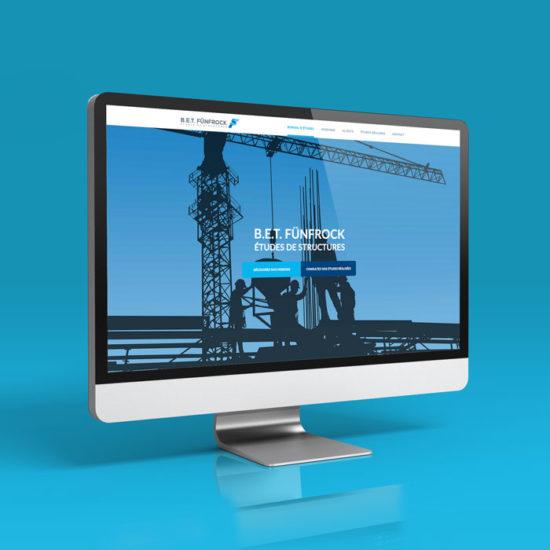 Design du site internet pour un bureau d'étude de structure