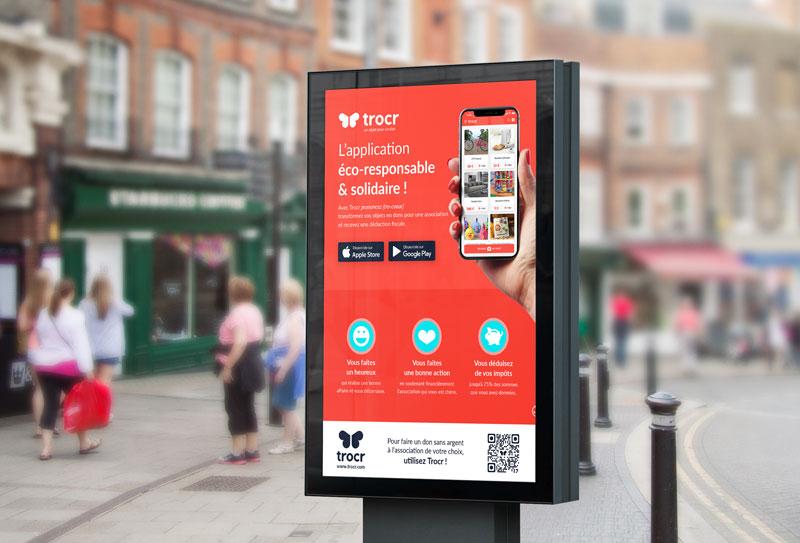 Affiche de présentation de l'Application mobile Trocr