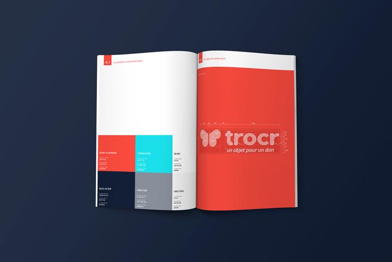 Charte graphique de la startup Trocr