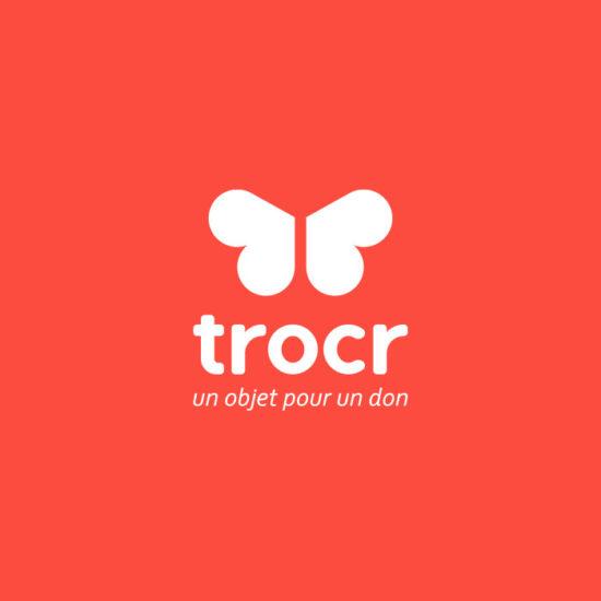 Design du logo de l'application mobile Trocr