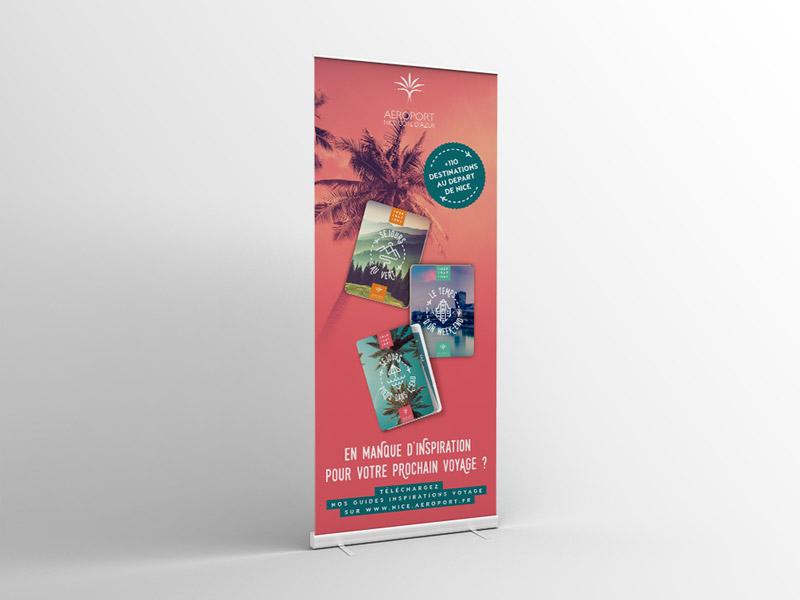 Kakémono pour l'aéroport Nice Côte d'Azur - Campagne Mars 2019
