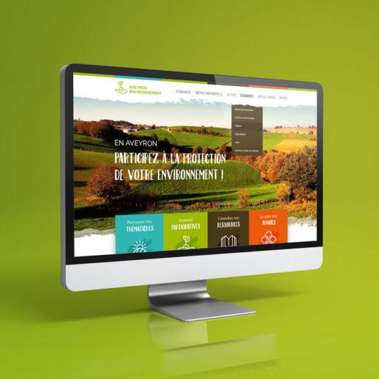 Design du site internet Aveyron Environnement
