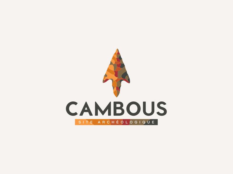 Logo sur fond blanc du site archéologique de Cambous