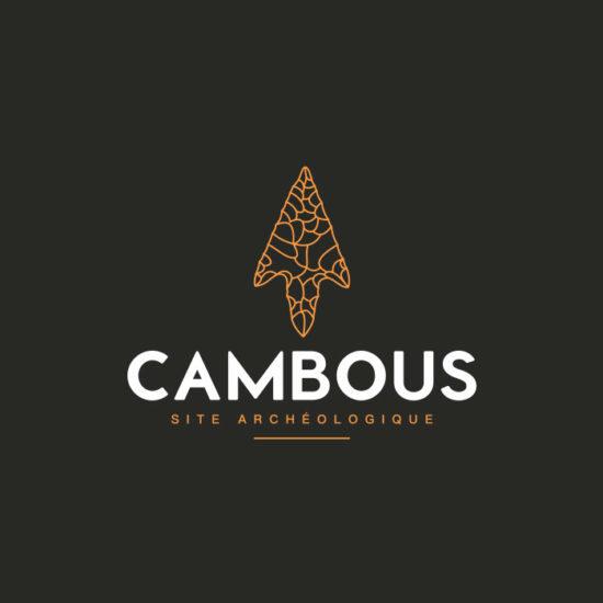 Design du logo du site archéologique de Cambous