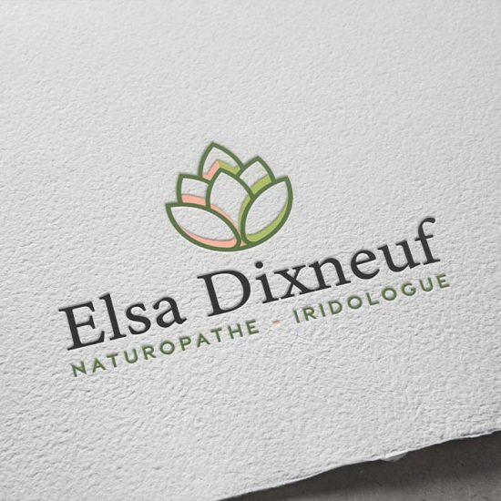 Design du logo de la naturopathe Elsa Dixneuf
