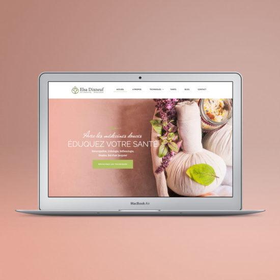 Design du site internet de la naturopathe Elsa Dixneuf
