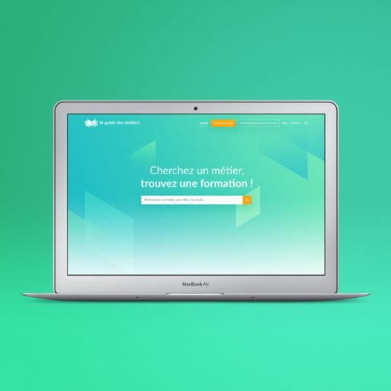 Design du site internet Le Guide des Métiers