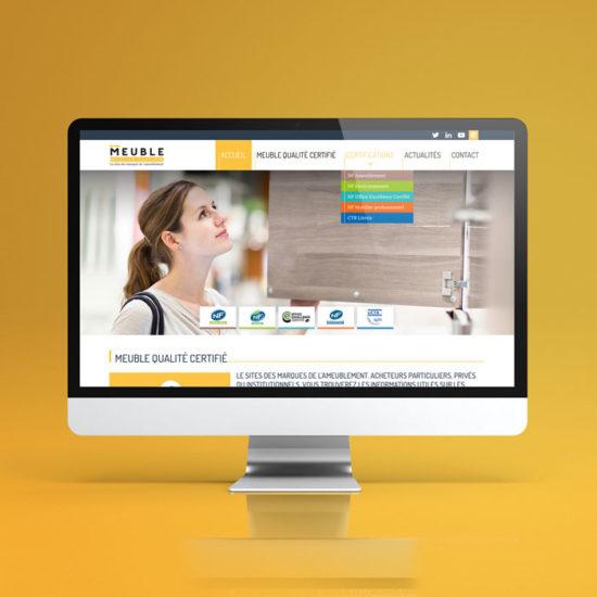 Design du site internet Meuble Qualité Certifié