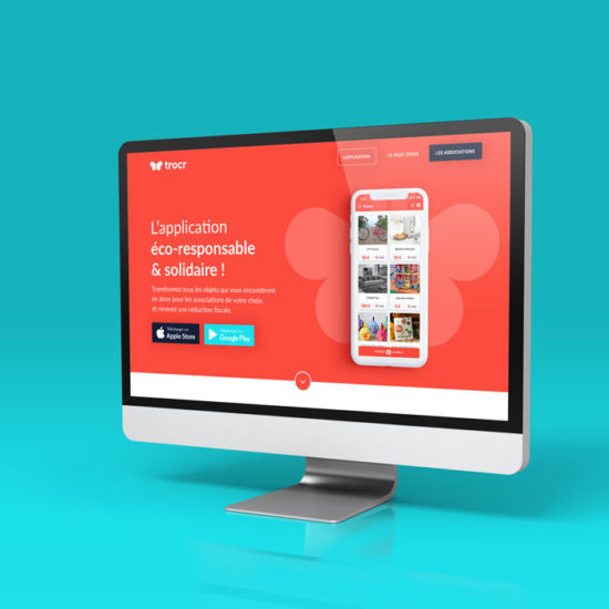 Design du site internet de la startup Trocr